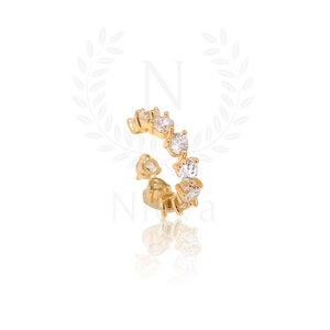 Brinco Piercing Luli Ouro (Prata 925)