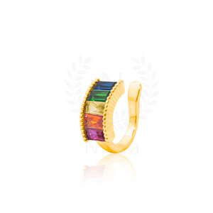 Brinco Piercing New Rainbow Ouro