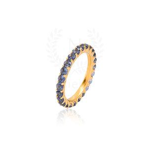 Aliança Sarah Tanzanita Ouro (Prata 925)