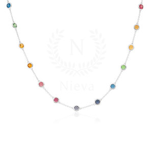 Colar Choker New Tiffany Rainbow Prata