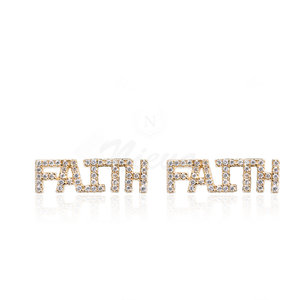 Brinco Ear Cuff Faith Ouro
