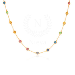 Colar Choker New Tiffany Rainbow Ouro