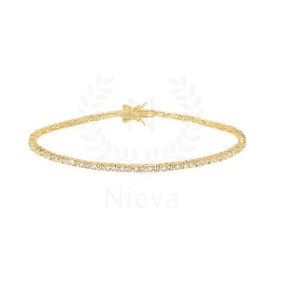 Pulseira Riviera Ouro Slim - 1,5 mm
