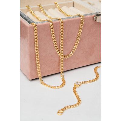 Colar Corrente Grumet Ouro 45 cm/ 55 cm (Escolha o seu tamanho)