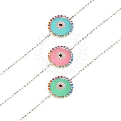 Pulseira Olho Grego Rainbow ( Escolha sua cor - Azul, Turquesa, Rosa)