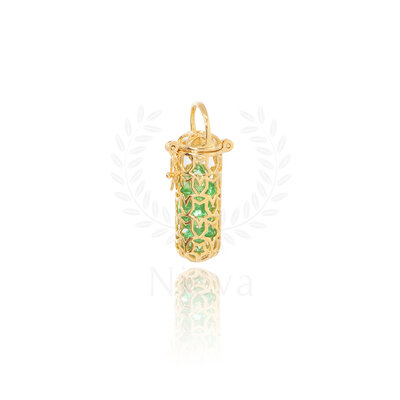 Pingente Cápsula Cristal Verde