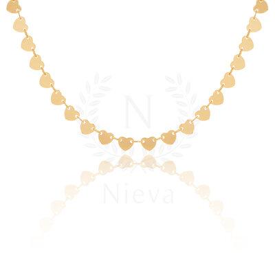 Colar Choker Coração Ouro - 36 cm