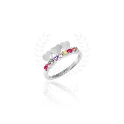 Aliança Candy Love Rainbow Prata 925