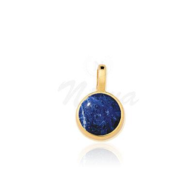 Pingente Sodalita Pedra Natural Ouro