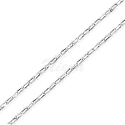 Corrente Bia Ródio 80 cm - Elo 0,3 cm