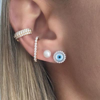 Brinco Ear Hook Palito Pressão Ouro