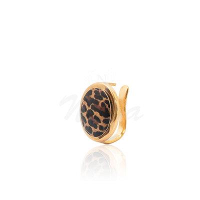 Brinco Piercing Animal Print Ouro (Ajustável)