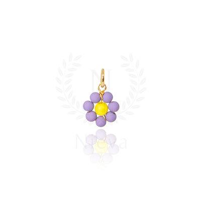 Pingente Florzinha Lilás Ouro