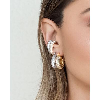 Ear Hook Lia Cravejado Ouro
