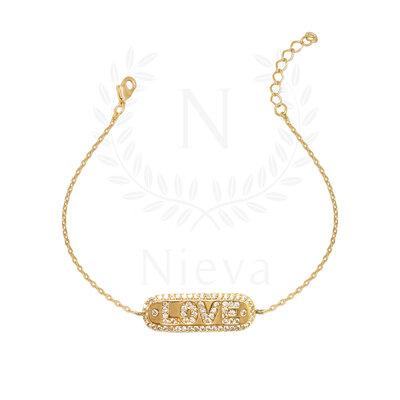 Pulseira Love Ouro (Prata 925)