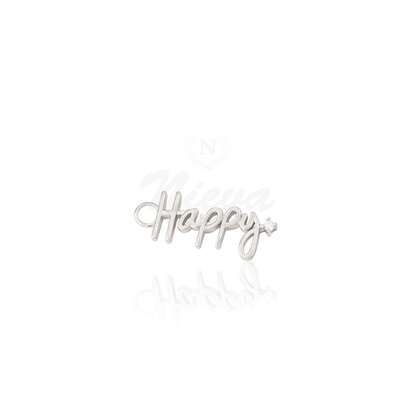Pingente Happy Prata 925