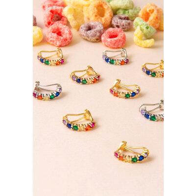 Brinco Piercing Sofia Rainbow (com fecho)