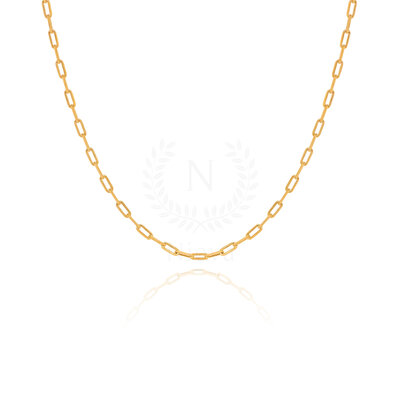 Colar Corrente Lia Ouro (60 cm | Elo 4 mm)