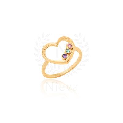 Anel Coração Candy Ouro (Prata 925)