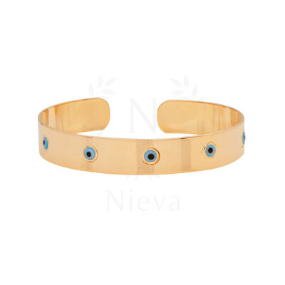 Bracelete Olho Grego Ouro