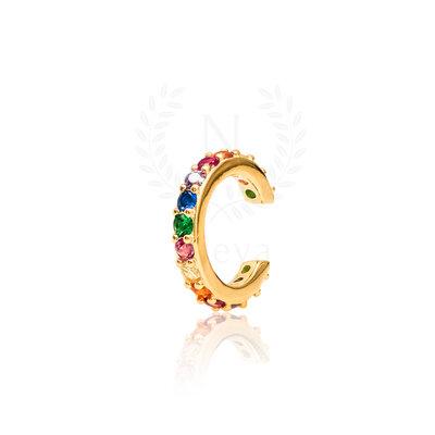 Brinco Piercing Sarah Rainbow Ouro (Prata 925)