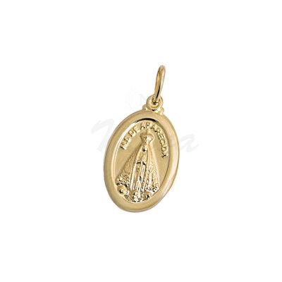 Pingente Medalha Nossa Senhora Aparecida Ouro M