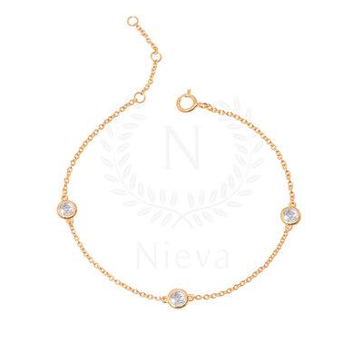 Pulseira Pontos White Ouro Prata 925