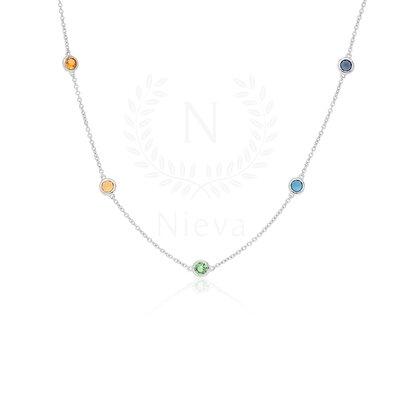 Colar Pontos de Luz 45 cm Rainbow Prata 925