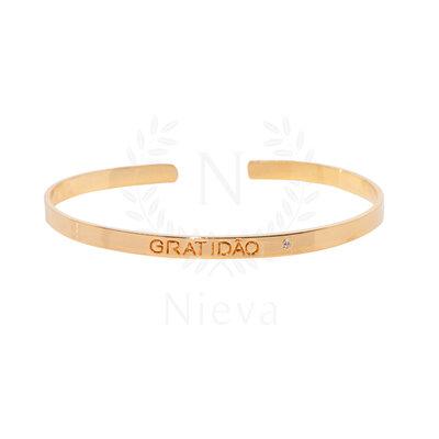Bracelete Gratidão Ouro