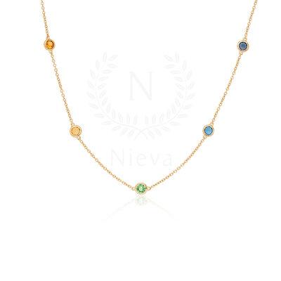Colar Tiffany 45 cm Rainbow Ouro