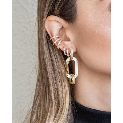 Brinco Piercing Sarah Citrino Ouro (Prata 925)