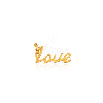 Pingente Love Ouro