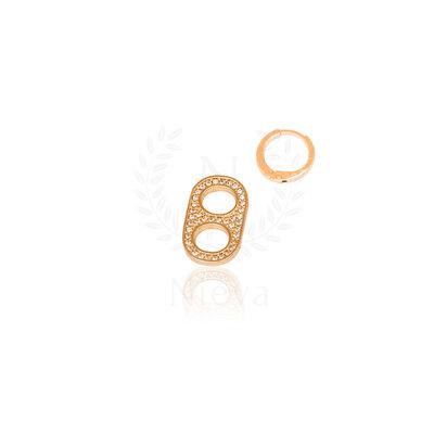 Pingente / Argola Mini Lacre SodaCap Cravejado Ouro