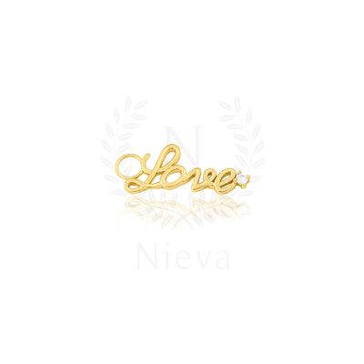 Pingente Love Ouro (Prata 925)