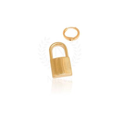 Pingente / Argola Cadeado Ouro (ACOMPANHA CONTRA ARGOLA)