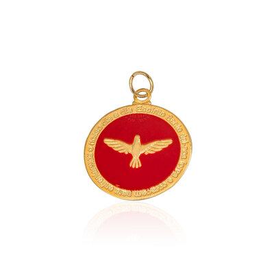 Pingente Medalha Divino Red M