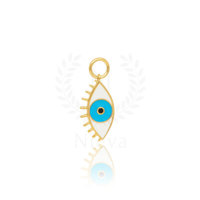 Pingente Olho Grego Azul Ouro (Unitário)