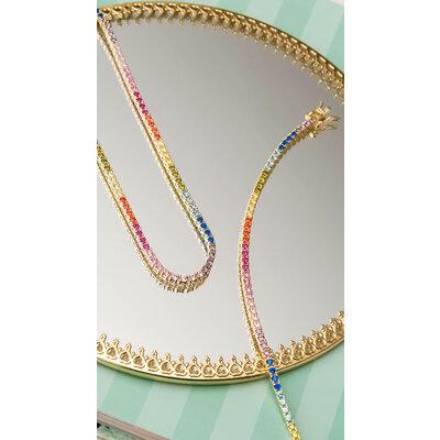 Pulseira Riviera Rainbow Ouro (Prata 925)