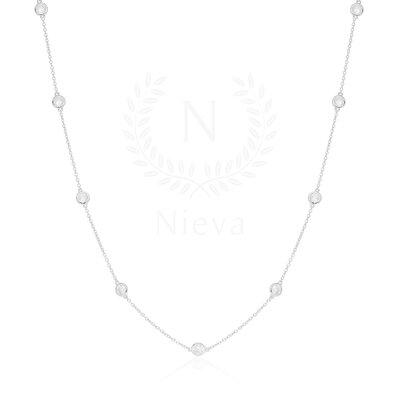 Colar Tiffany New Ponto de Luz Prata 80 cm
