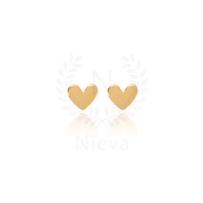 Brinco Mini Coração Ouro