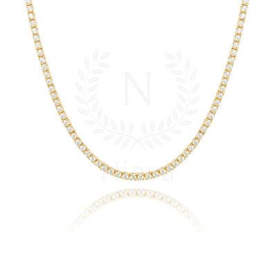 Colar Riviera Ouro (Prata 925) 40 cm - 2mm