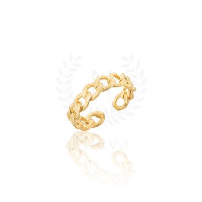 Anel Corrente Grumet Ouro (Escolha o seu tamanho)