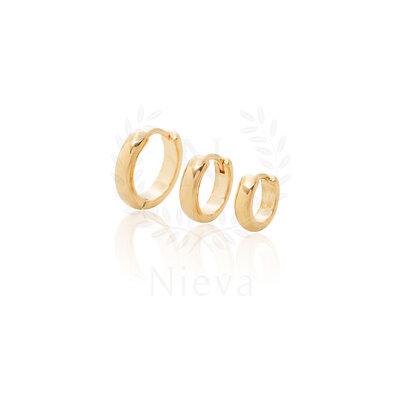 Brinco Argola Basic Ouro (Escolha o seu tamanho - P/M/G)