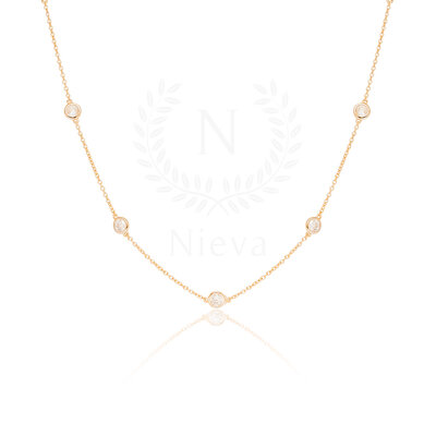 Colar Tiffany 45 cm Ouro (Prata 925)