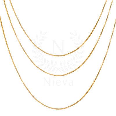 Corrente Veneziana Ouro (Escolha o seu tamanho)