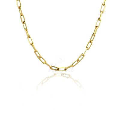 Colar Corrente e Choker Cartier Ouro 42 cm - Elo 1 cm