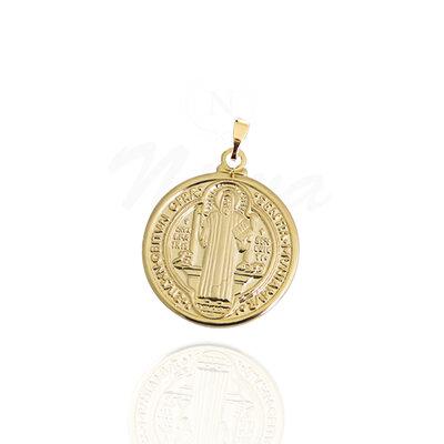 Pigente Medalha de São Bento Ouro 2, 1 cm