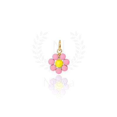 Pingente Florzinha Rosa Ouro
