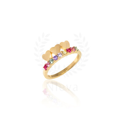 Aliança Candy Love Rainbow Ouro (Prata 925)