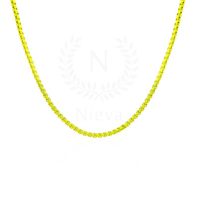 Colar Malha Nati Neon Amarelo
